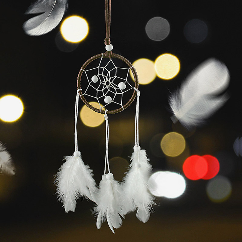 MEMOSTO Mini white dreamcatcher pendant handmade crafts original design creative gift car girls birthday gifts