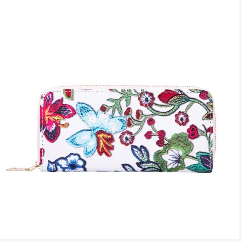 NEUE!!! Brieftasche weibliche frauen Casual Floral Druck Karte Halter Brieftasche Geldbörse Brieftasche Handtasche A0518 #30