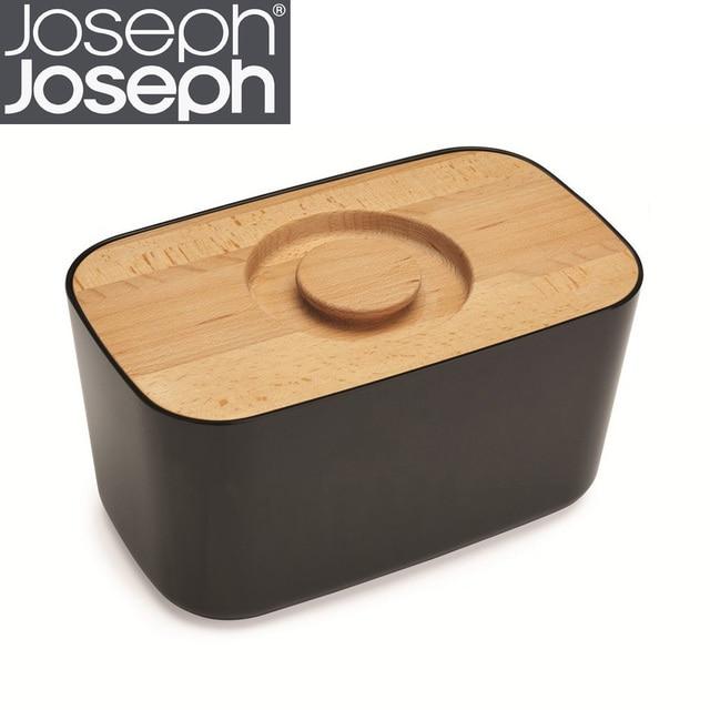 Joseph Joseph Bread Box British Food Storage Box Containing Wooden Cutting  Board Cut Bread Fruit Plate