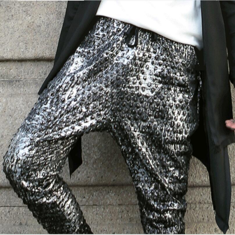 Haroun Del Los Negro Ocio xl Pantalones De Moda Hombres La Cantante Compras Tamaño Etapa Trajes Lager Libres Ropa m Estilista qXZHHw