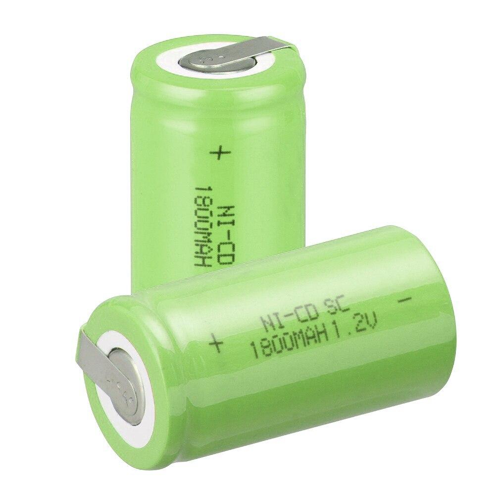 Capacidad verdadera! 40 unids SC batería subc batería recargable nicd batería de