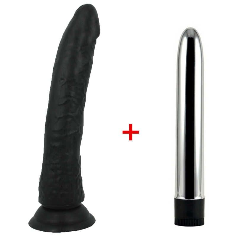 Hitam Besar Realistis Dildo Cangkir Hisap Kuat Kontol Penis & Kecepatan Kuat Vibrator untuk Wanita Seks Mainan untuk Wanita toko Seks
