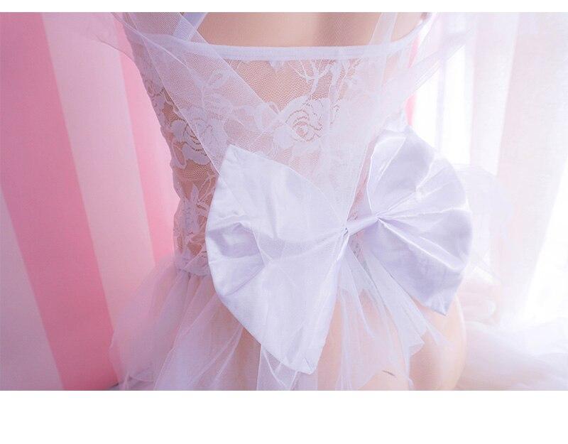 Image 4 - Perspectiva bonito doce lingerie bud malha de seda underdress  exótico casamento trajes sexy fadas rendas transparente pettiskirt seis  conjuntosConjuntos de lingerie