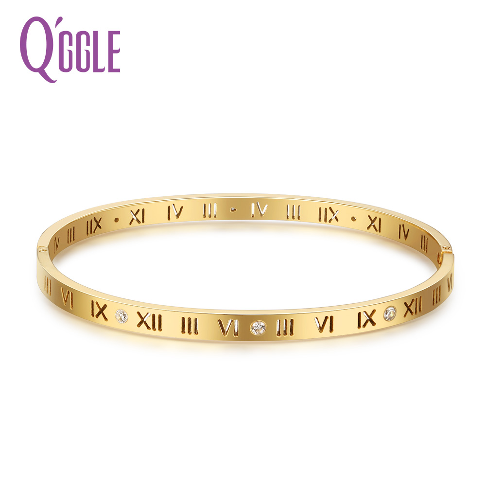 Qggle Gold Color Stainless Steel Bracelet Amp Bangle For