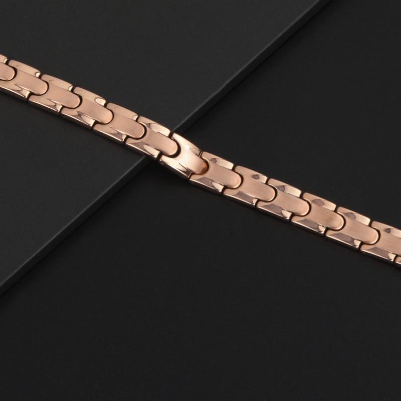 Hottime Magnetische Volledige Gezondheidszorg Armband Volledige 99.9999% Germanium Armband Voor Vrouwen 316L Rvs Armbanden Bangles - 3