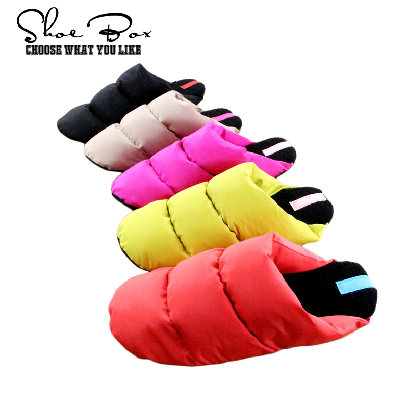1 Free waist bag if buy Candy colors Non-slip Travel Light soft home slippers for women Indoor ladies winter Shoes Cotton-padded