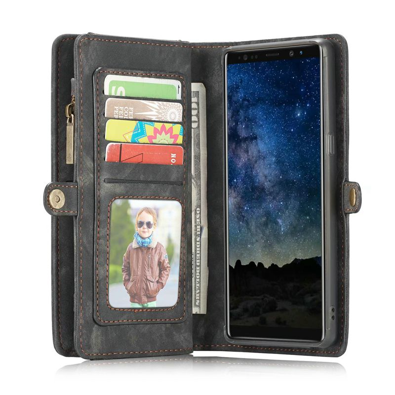 Image 5 - Purse Wristlet Phone case For Samsung Galaxy s 8 9 note 10 + Plus 8 9 s7 edge coque Luxury Leather Funda Etui Cover accessoriesWallet Cases   -
