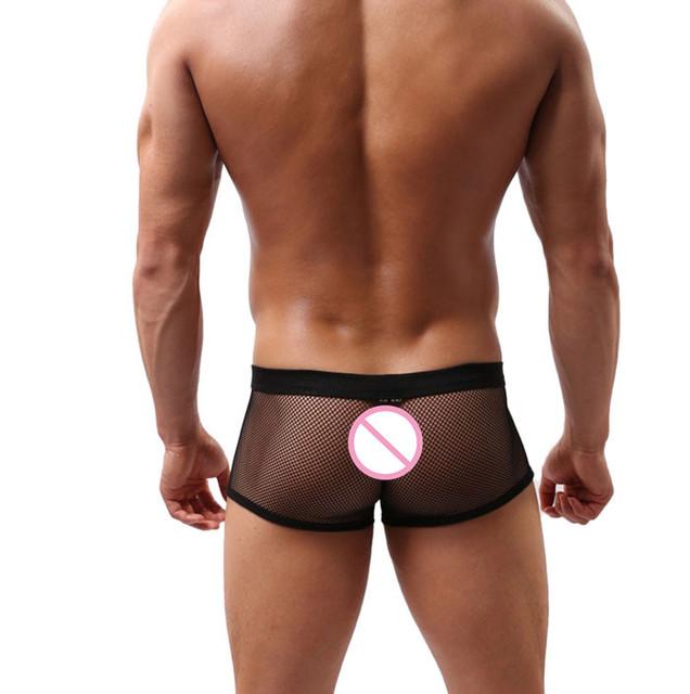2017Hot Mens perspektywy Mesh sexy bokserzy Intimates Drukuj miękkie przewietrzyć egzotyczne bokserki majtki sexy spodenki spodnie rozmiar L-XXL