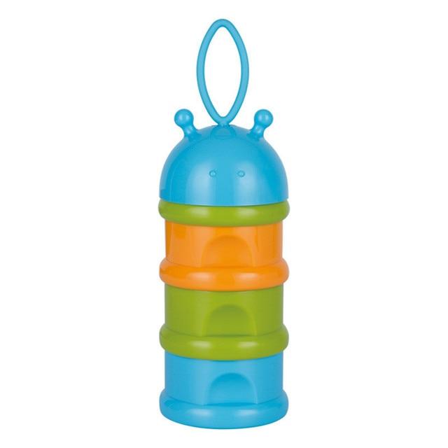 Three Layer Baby Portable Milk Powder Container Food Grade PP Infant milk Mobile Storage Case Solid Color Milk Box