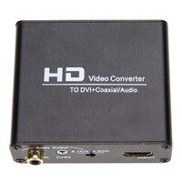 1080 P HD Video HDMI to DVI коаксиальный аудио конвертер адаптер Коробка для ps3, Blue Ray DVD с Адаптеры питания