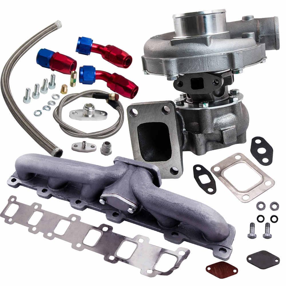 Detail Feedback Questions About Turbo Turbocharger Oil Line Manifold Kits Fit For Nissan Patrol Safari Y60 Y61 Hybrid T3 T4 T04e 63 A R Turbine 5 Bolt
