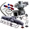 Турбо турбонагнетатель + Масляная линия коллектор наборы подходят для Nissan Patrol Safari Y60 Y61 для гибридных T3/T4 T04E .63 A/R турбины 5 болтов