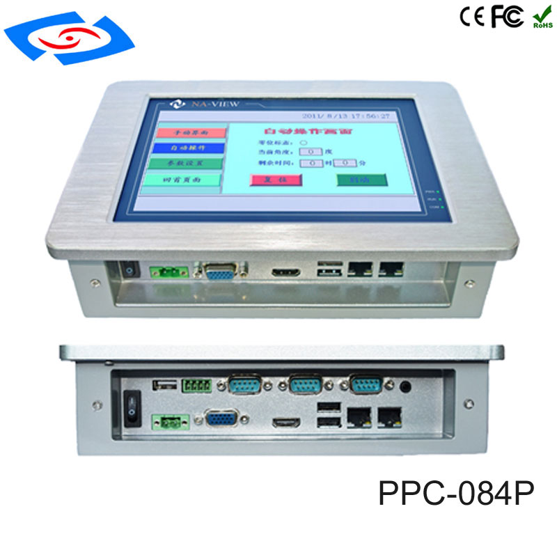 Image 3 - Low Cost 8.4 Inch Touch Screen Industrial Tablet PC IP65 Fanless Design With 800x600 Resolution 3xUSB2.0 For Factory Automation-in Mini PC from Computer & Office