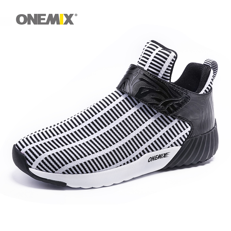 ONEMIX Athletic Shoes Outdoor Menn Walking Shoes Unisex Sports Shoes Women Running Shoes Pustende Jogging Sneakers US6.5-11