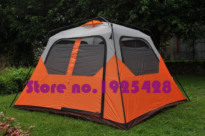 2016 hot sale 5-8 person big space 2 doors outdoor family camping quick automatic opening single layer hiking beach fishing tent 5 6 person huge 2 layer automatic rainproof sunshade shelter hiking travel fishing beach family awning outdoor camping tent