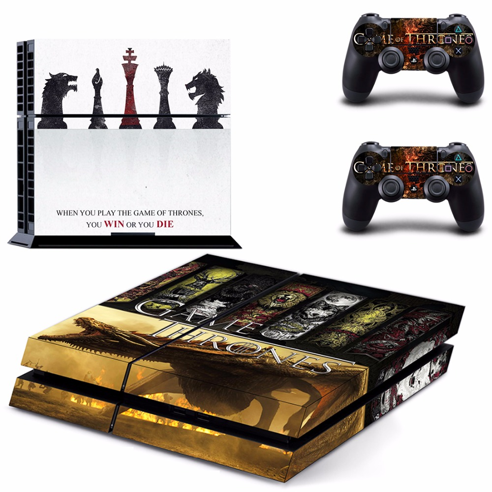PS4 Full Skin Sticker Faceplates of Game of Thrones for Sony playstation 4 Console and Controller