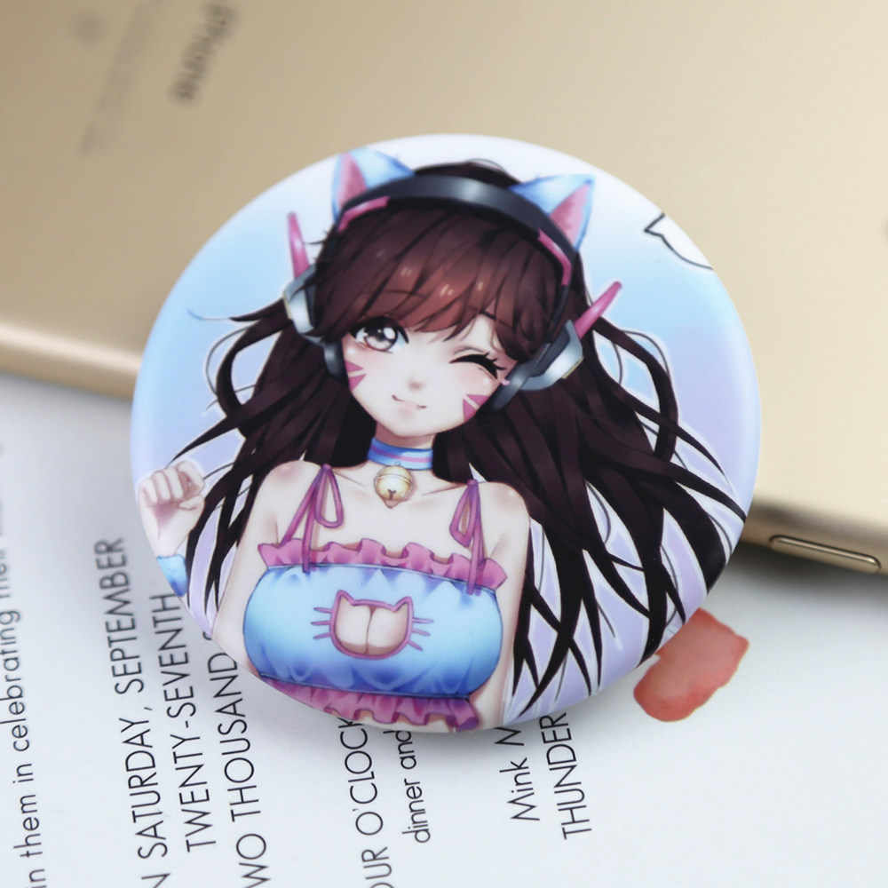 FFFPIN 5.8cm Large Badges Child Backpack Decorate Gaming Brooch Decor Coin Pin for Peripherals DVA D.Va Computer Anime Cospaly