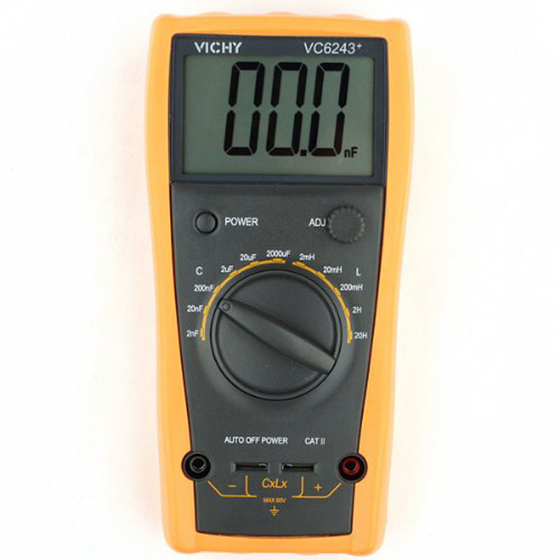 ФОТО Digital multimeter ViCi VC6243+ high presion LC Meter Inductance Capacitance with Automatic power failure without burning table