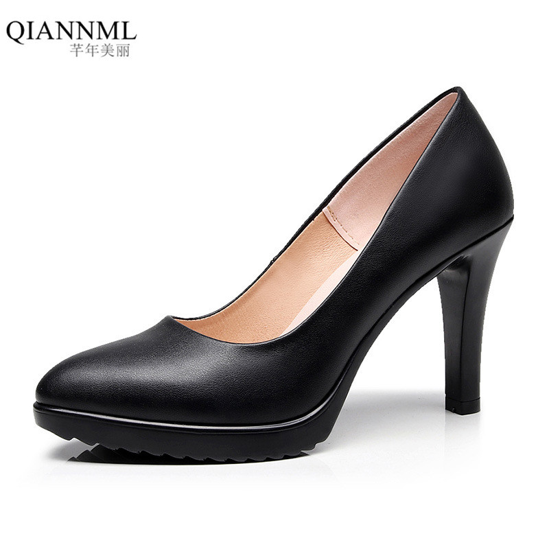 Plus Size 33-43 Classic Pointed Toe Platform Shoes Women Pumps 2018 Spring Women's High Heel Shoes Black White Red Wedding Shoe sandals small open toe shoe 32 paillette bow 33 hasp high heeled shoes wedding shoes plus size women s shoes 43 free shiopping