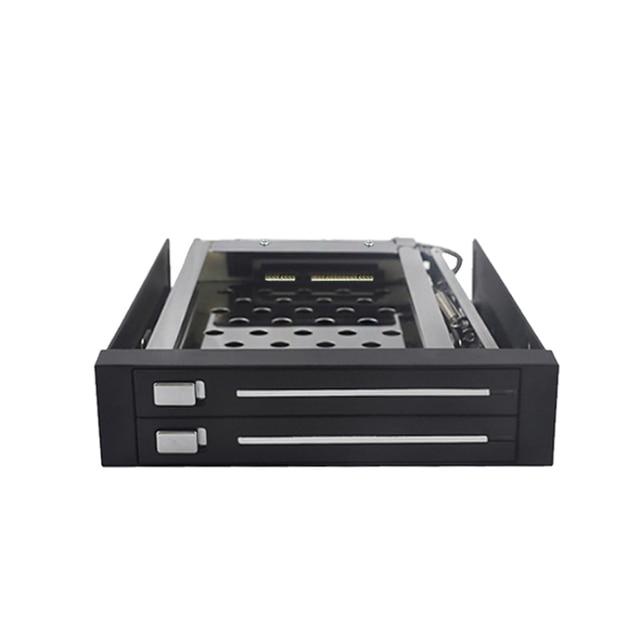 2.5in dual bay hdd storage case 2tb hard disk SATA Internal hdd enclosure