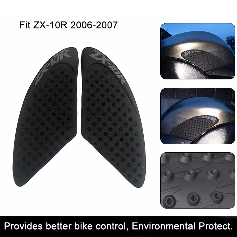 Motorcycle Accessories & Parts New Fashion Zx10r Motorcycle Protector Anti Slip Tank Pad Sticker Gas Knee Grip Traction Side 3m Decal For Kawasaki Ninja Zx-10r 2006 2007