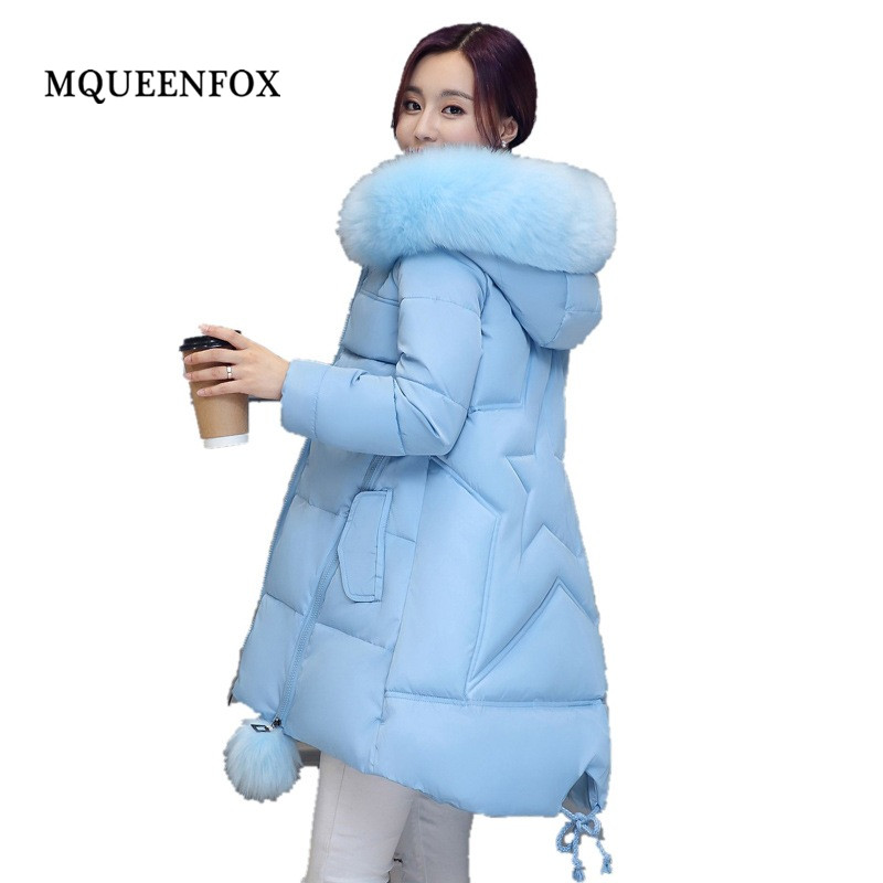 Hooded jacket Winter Women Coat Jacket 2019 New Big collar printing Winter Collection Women Coat Casual Loose Warm   Parka