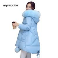 Hooded jacket Winter Women Coat Jacket 2019 New Big collar printing Winter Collection Women Coat Casual Loose Warm Parka