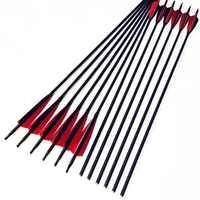 6/12/24 stücke 32 ''Carbon Pfeile OD 7,5mm Wirbelsäule 20-60LBS Mit Veränderbar Pfeilspitze Für Recurve bogen Bogenschießen