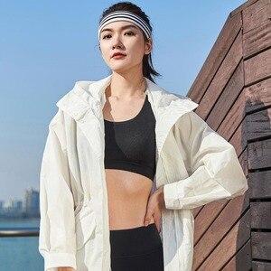 Image 4 - Xiaomi Uleemark długi biały trencz IPX5 wodoodporna odzież chroniąca przed słońcem modna bluza z kapturem wiatrówka