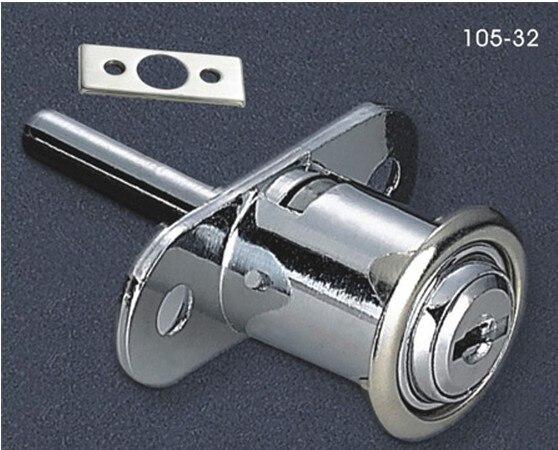 Free Shipping 3PCS of 32mm Zinc Alloy Ambry door lock drawer Lock sliding door lock