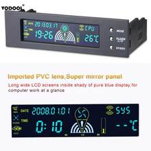 "5.25 ""Bay Front LCD Panel 3 Nieuwe Fan Speed Controller CPU Temperatuur Sensor voor Desktop Computer Temperatuur Controller voor fan(China)"