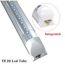 1pc/lot  LED Tube T8 2ft 10W Integrated Tube Lamp 600mm Led Bulbs Tube AC85-265V G13 SMD2835 1000lm Lighting Tubes