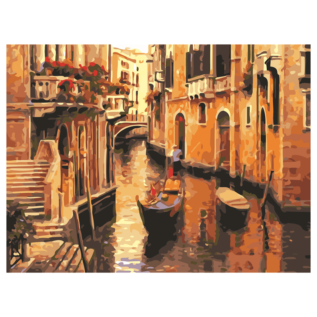 Sales Promotion Diy Oil Painting By Numbers Landscape Home Decor Wall Painting Handpainted On Linen Venice