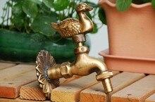 Animal shape garden Bibcock Rural style antique bronze Duck tap with Decorative outdoor faucet for Garden washing
