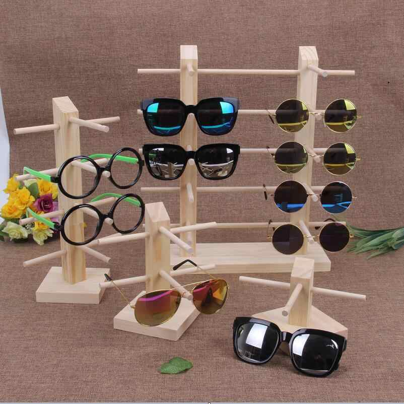 Multi Layers Eyeglasses Display Stand Storage Holder Sunglasses Show Rack Holders Glasses Shelf Home Glasses Wooden Organizer
