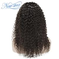 Бразильские бесклеевые полные парики шнурка глубокая кудрявая новая звезда девственные волосы предварительно сорванные 130% плотность афро