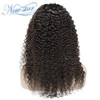 Бразильский бесклеевого парики Deep Вьющиеся new star Virgin волос предварительно сорвал 130% плотность афро вьющиеся натуральные волосы парики, кру