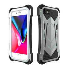 Military Grade Full Protect Case For iPhone 7 Plus 8 Hard Cover Silicone+Metal Heavy Duty Protection Pouch Dirty/Dust/Shockproof