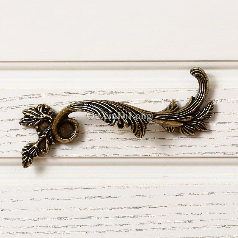 Топ Разработанный 5 пар или 10 шт. Мебель ручки Европейский античный ящика Шкаф Кухня Кабинета тянуть ручки и ручки - 4
