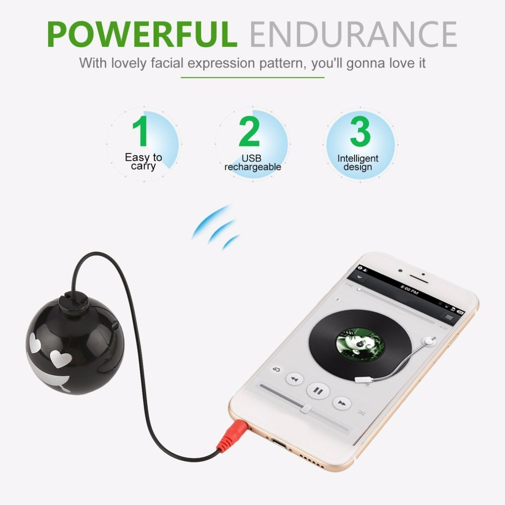 Mini Usb Rechargeable Explosion Sound Speaker With Facial Expression Pattern Consumer Electronics Portable Speakers