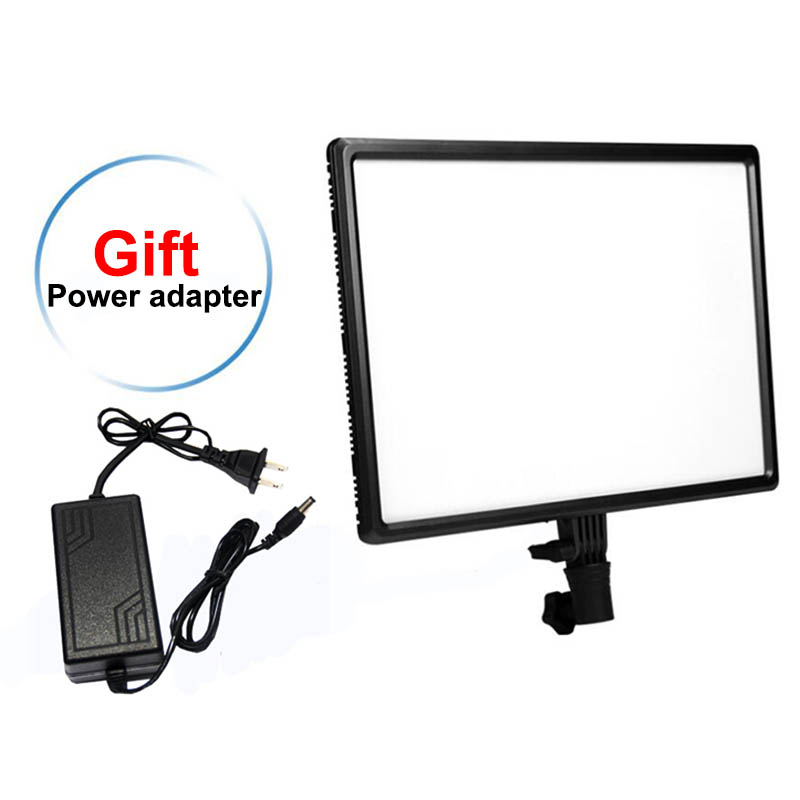 Luxpad43 14 LED Panel 3200K 5500K Camera Photography Video Studio Light with AC Adapter for Canon