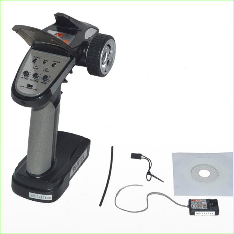 1pcs Original Flysky FS GT2E AFHDS Radio System Transmitter 3 Channels 2.4G Gun Control & Receiver for RC Car Boat LED Display