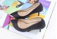 пункт металла сверкающие прозрачные с острым туфли на высоком каблуке туфли туфли на высоком каблуке для женщин дамы золото черный офис прямая поставка