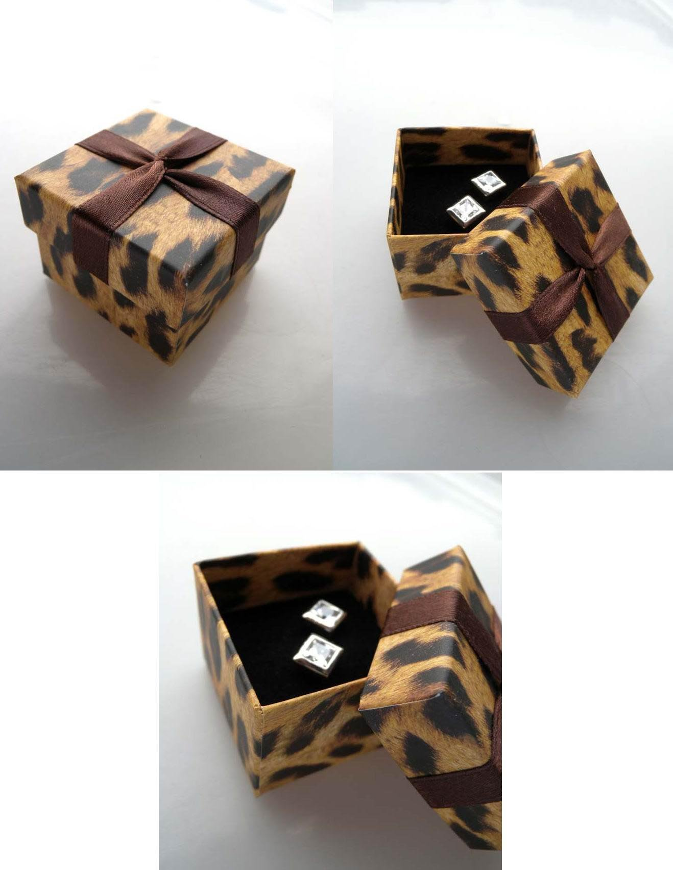 wholesale 40pclot tiger decorative shape ring paper jewelry box gift boxes accessories multicolor - Decorative Gift Boxes