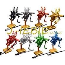 CNC Yarış Dikiz Ayarlanabilir Arka Setleri Ayak pegs Için Fit Yamaha YZF R125 2008 2009 2010 2011 2012 2013