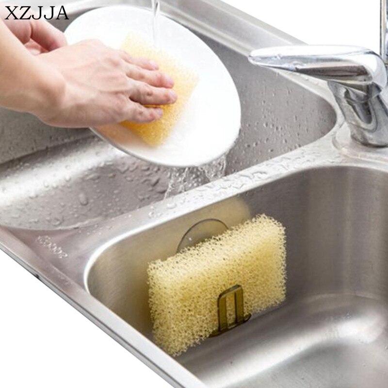 XZJJA High Quality Creative Kitchen Sucker Sink Drain Sponge Storage Rack Kitchen Sink Soap Rack Storage Rack