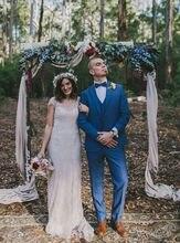 Latest Coat Pant Design Navy Blue Wedding Men Suit Slim Fit Skinny 3 Piece Tuxedo Custom