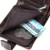 CONTACT'S Clássico Louco Horsehide Couro Homens Carteiras de Couro Genuíno Carteira Pequena bolsa Com Zíper Titular do Cartão Bolsa de Moedas de Design Saco