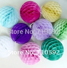15pcs 5cm  Paper Honeycomb Balls Cute Decorative Wedding Birthday Stereoscopic Ball Colourful Decoration