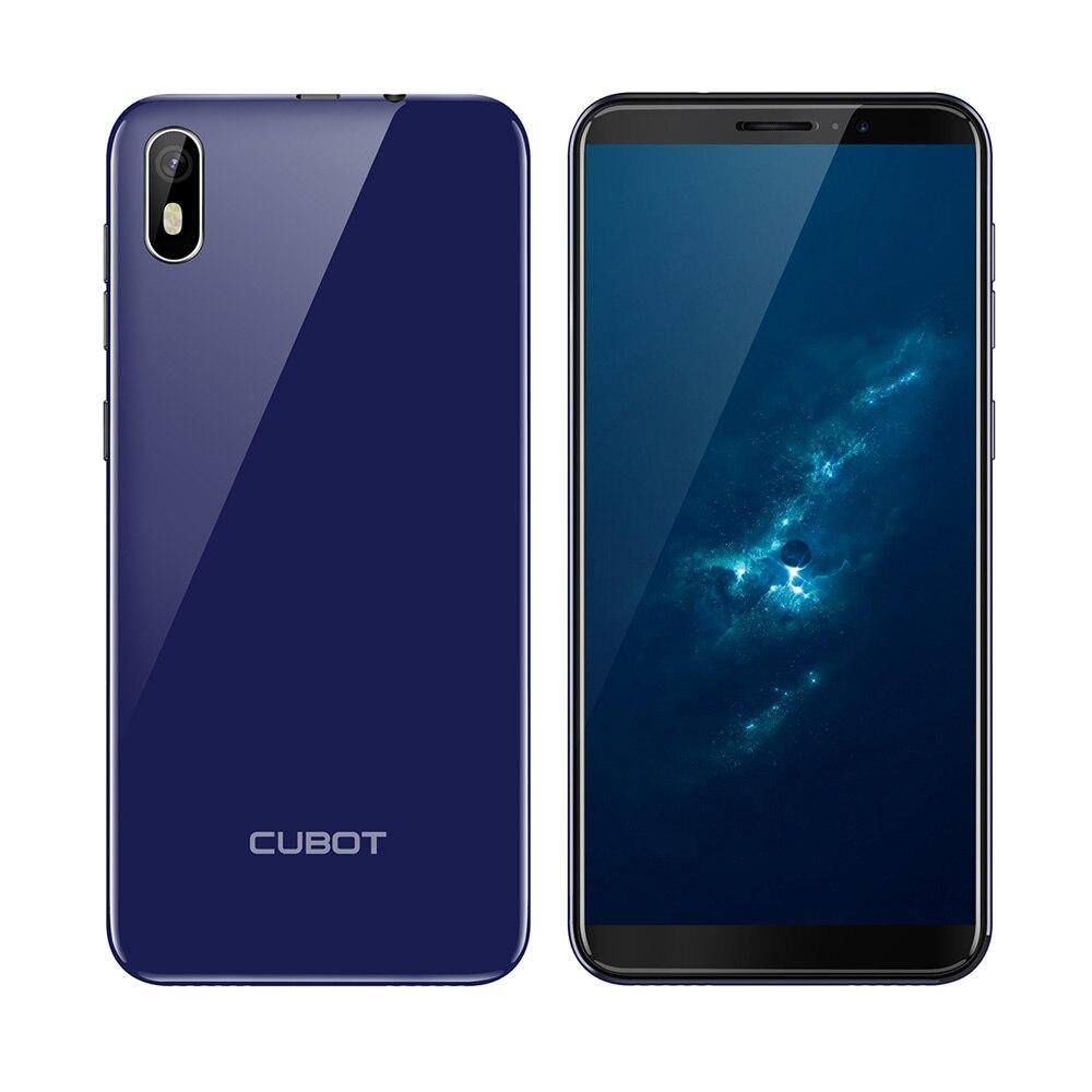 """Cubot J5 смартфон 5,"""" 18:9 полный Экран MT6580 Quad-Core Android 9,0 телефон 2 Гб Оперативная память 16 Гб Встроенная память Dual SIM карта - Цвет: Blue"""
